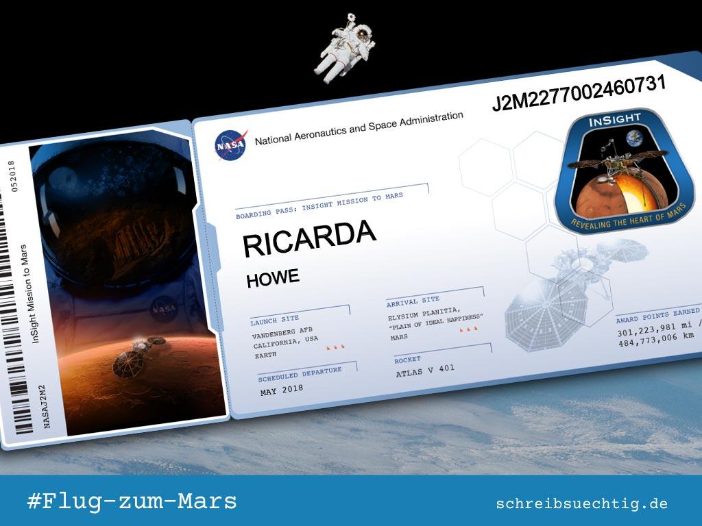 Mein Ticket zum Mars