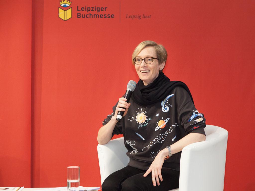 Mit Space-Pulli auf der Leipziger Buchmesse