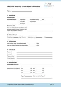Checkliste Schreibreise