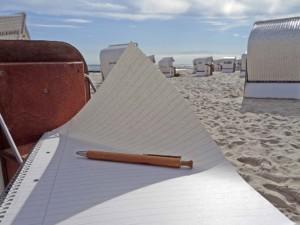 Schreibreise am Strand