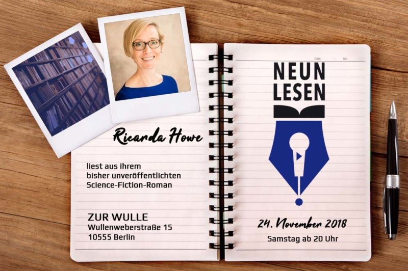 Lesung in Berlin: 9lesen am 24.11.18