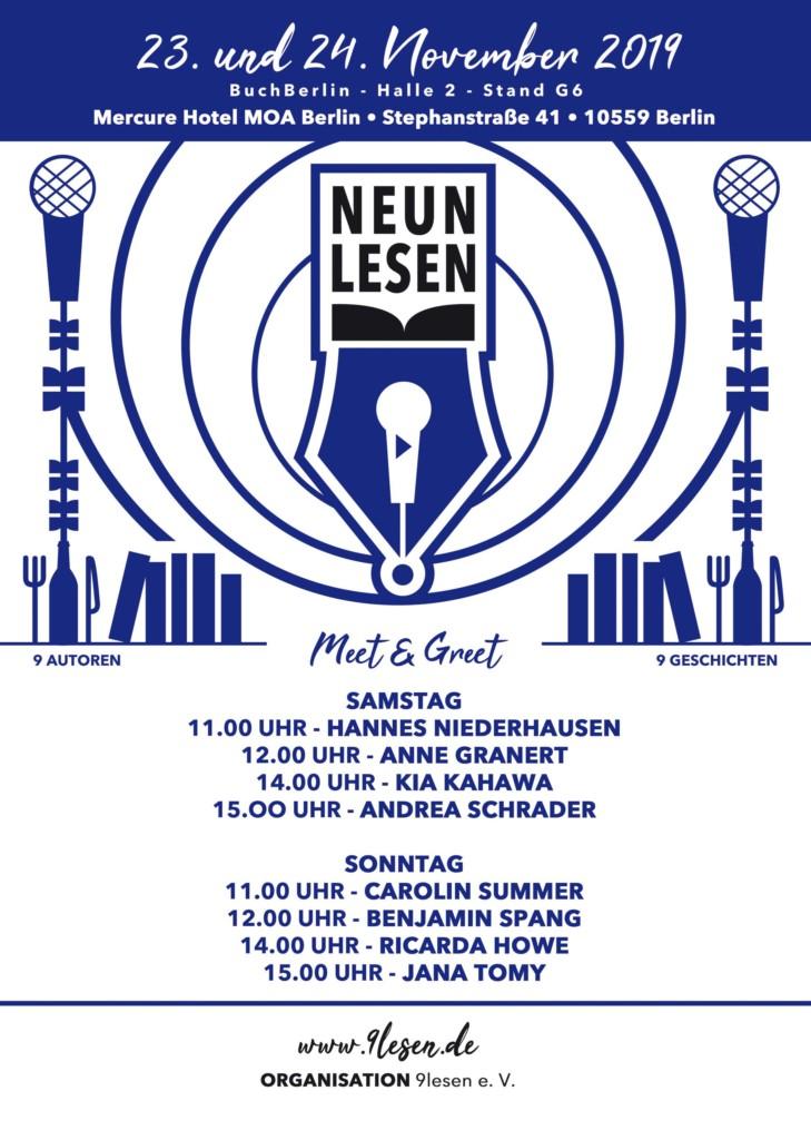 Plakat für Meet & Greet auf der BuchBerlin